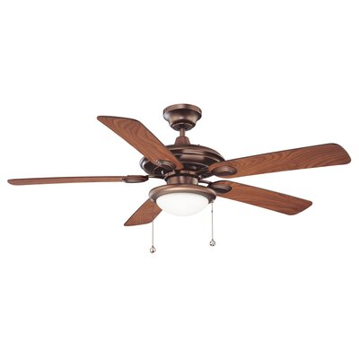 52 Builders Choice 5-Blade Ceiling Fan Finish: Oil Brushed Bronze with Elmwood Blades
