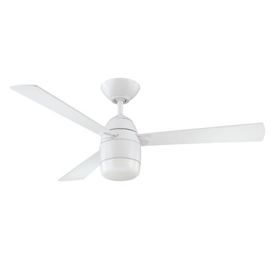 42 Schreffler 3-Blade Ceiling Fan with Remote Finish: White