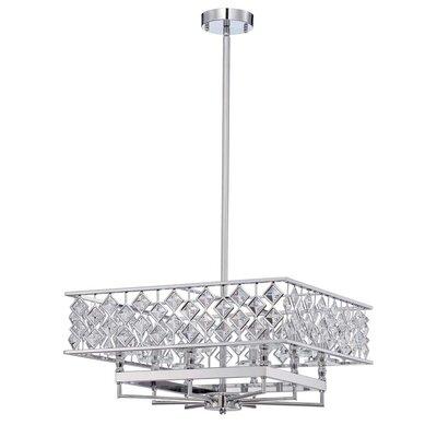 Milano 8-Light Crystal Pendant Size: 95.5 H x 21 W x 21 D