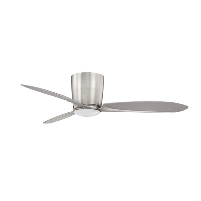 48 Perceptor 3-Blade Celling Fan with Remote Finish: Satin Nickel