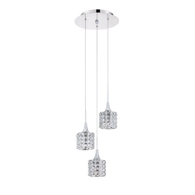 Lustra 3-Light Cascade Pendant