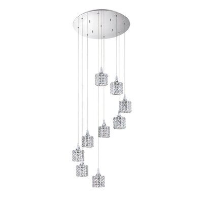 Lustra 9-Light Cascade Pendant