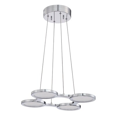Milan 4-Light Geometric Pendant