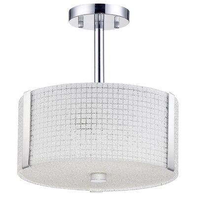 Glacier 3-Light Semi-Flush Mount Size: 12.5 H x 12 W x 12 D