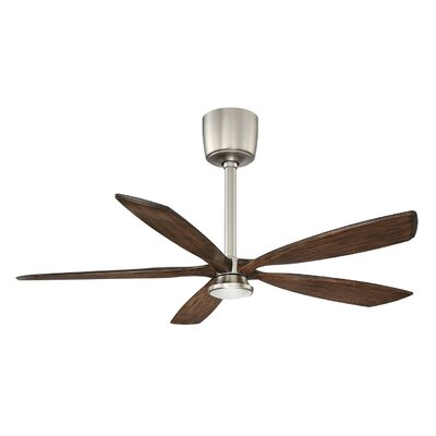 54 Phantom 5-Blades Ceiling Fan with Remote Motor Finish: Satin Nickle