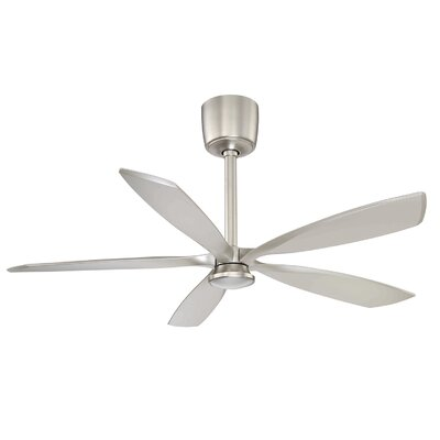 54 Phantom 5-Blade Ceiling Fan with Remote Finish: Satin Nickel