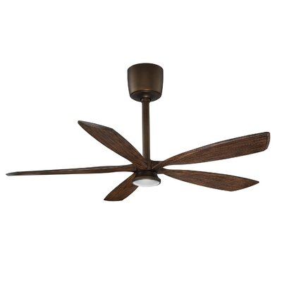 54 Phantom 5-Blades Ceiling Fan with Remote Motor Finish: Architectural Bronze