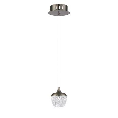 Villegas 1-Light LED Mini Pendant Finish: Black Stainless