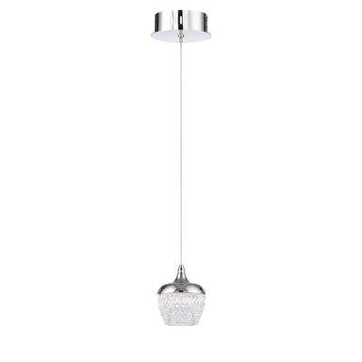 Villegas 1-Light LED Mini Pendant Finish: Chrome