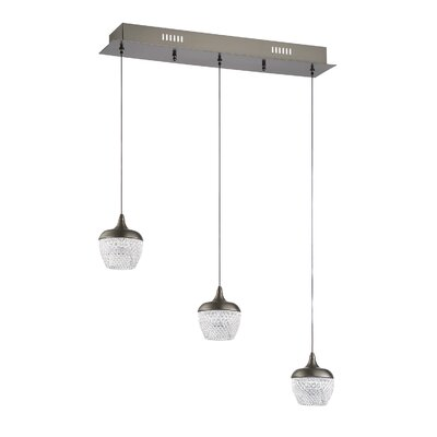 Villegas 3-Light LED Kitchen Island Pendant Finish: Black Stainless