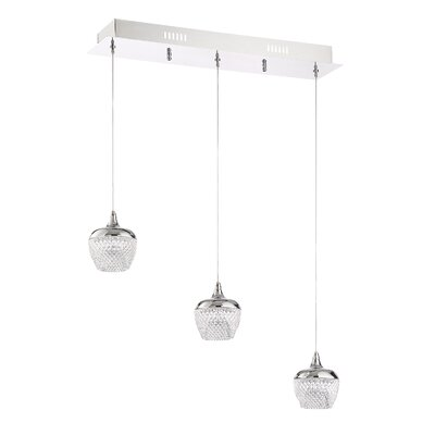 Villegas 3-Light LED Kitchen Island Pendant Finish: Chrome