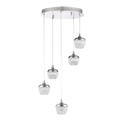 Villegas 5-Light LED Cluster Pendant Finish: Chrome