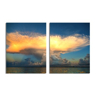 'Golden Cloud' by Bruce Bain 2 Piece Photographic Print on Wrapped Canvas Set BB154-1620DP