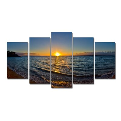 'Sun Rise' 5 Piece Photographic Print on Wrapped Canvas Set