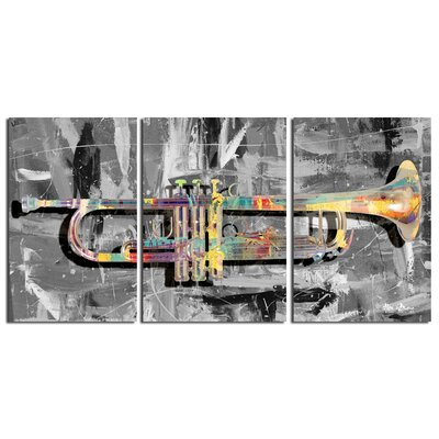 The Color of Jazz XV' Oversized 3-Piece Canvas Wall Art
