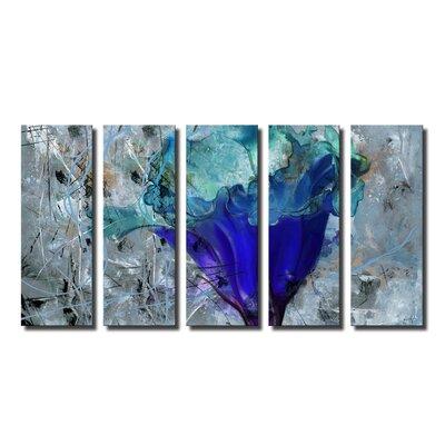 'Painted Petals LX' 5 Piece Graphic Art on Canvas Set