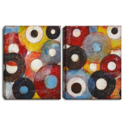 """'Circumstantial I/II' by Norman Wyatt Jr. 2 Piece Painting Print on Wrapped Canvas Set Size: 20"""" H x 32"""" W NW037-GWC2016DP"""