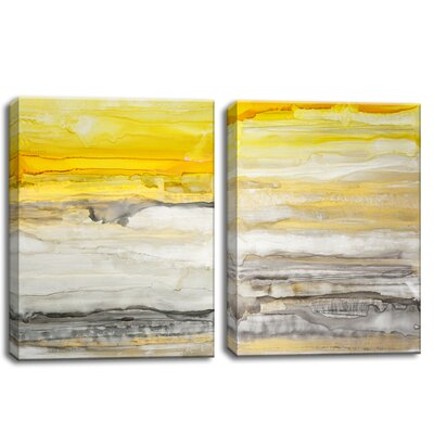 2 Piece 'New Sunset I/II' by Norman Wyatt Jr. Painting Print on Wrapped Canvas Set Size: 20
