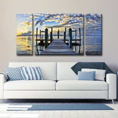 Ready2HangArt 'Pier Burst' by Christopher Doherty | 50 Nautical Inspired Ideas For Home Decor | Inexpensive Nautical Decor | DIY Home Decor | theMRSingLink