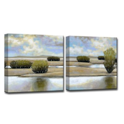 'Desert Pools I/II' by Norman Wyatt Jr. 2 Piece Photographic Print on Wrapped Canvas NW107-GWC1212DP