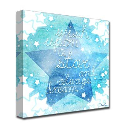 "'Wish Star'Graphic Art on Canvas Size: 16"" H x 16"" W x 1.5"" D A7D46DC672E341F486D9EA523C26E978"