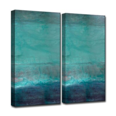 'Oversized Abstract' 2 Piece Graphic Art on Canvas Set