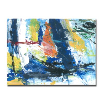 'Primary Abstract' Acrylic Painting Print on Canvas Size: 20