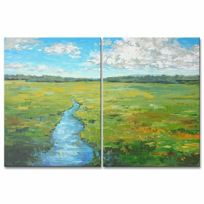 'Field Day' Acrylic Painting Print Multi-Piece Image on Wrapped Canvas Size: 16