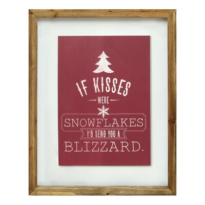 "If Kisses Were Snowflakes"" Framed Graphic Art S02908"