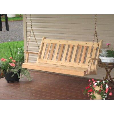 Traditional English Porch Swing Finish: Cedar