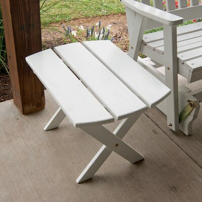 Folding End Table Finish: Bright White
