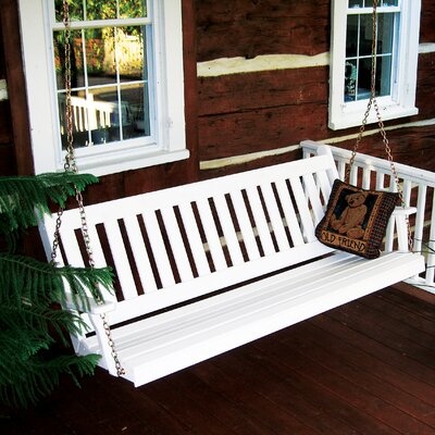 Traditional English Porch Swing Finish: Bright White