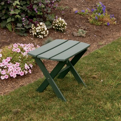 Folding End Table Color: Turf Green