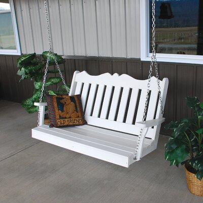 Nicholas English Porch Swing Finish: Bright White