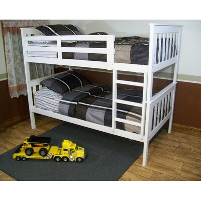 Mission Bunk Bed Bed Frame Color: White, Size: Twin Over Full Mission Bunkbed