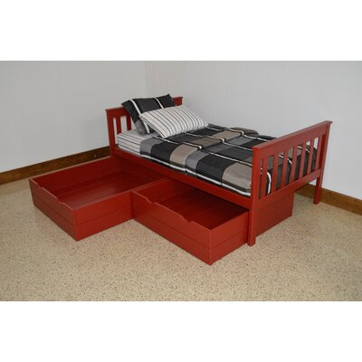 2 Piece Underbed Storage Drawer Set Size: Twin, Color: Tractor Red