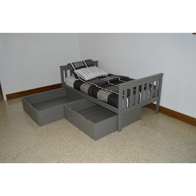 2 Piece Underbed Storage Drawer Set Size: Twin, Color: Olive Gray
