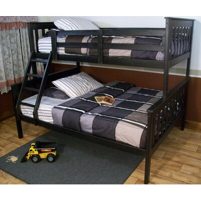 Mission Bunk Bed Bed Frame Color: Black, Size: Full Mission Bunkbed
