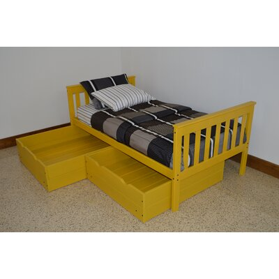 2 Piece Underbed Storage Drawer Set Size: Twin, Color: Canary