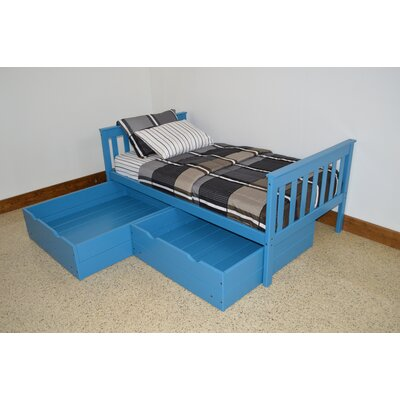 2 Piece Underbed Storage Drawer Set Size: Twin, Color: Carribean Blue