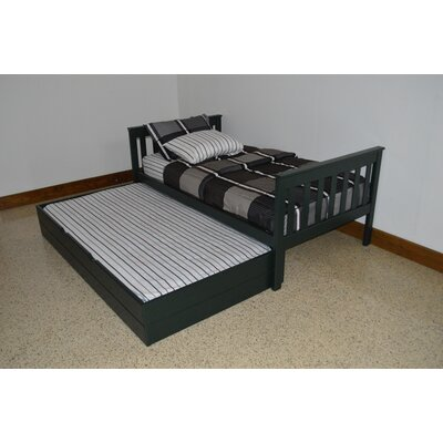Trundle Unit Size: Twin Trundle Bed, Color: Dark Green