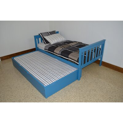 Trundle Unit Size: Twin Trundle Bed, Color: Carribean Blue