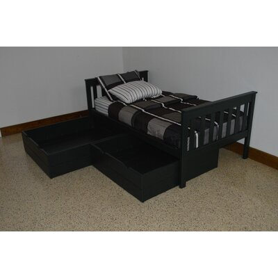 2 Piece Underbed Storage Drawer Set Size: Twin, Color: Dark Green