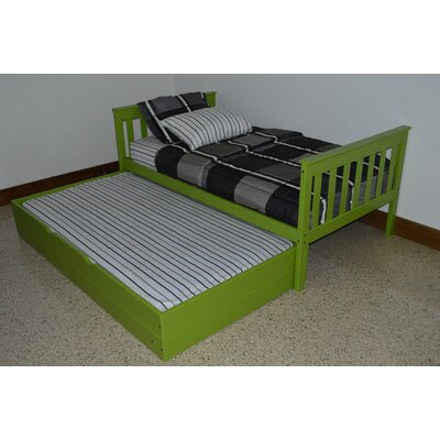 Trundle Unit  Color: Lime, Size: Twin Trundle Bed