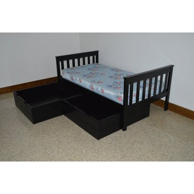 2 Piece Underbed Storage Drawer Set Size: Twin, Color: Black