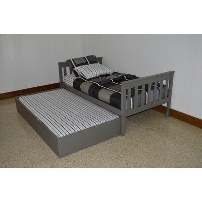 Trundle Unit Size: Full Trundle Bed, Color: Olive Gray