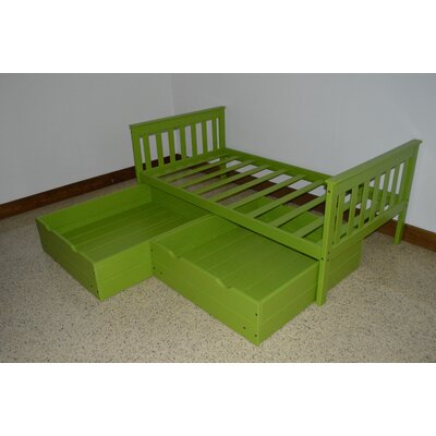 2 Piece Underbed Storage Drawer Set Color: Lime, Size: Full