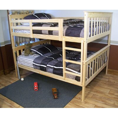 Mission Bunk Bed Bed Frame Color: Unfinished, Size: Full Mission Bunkbed