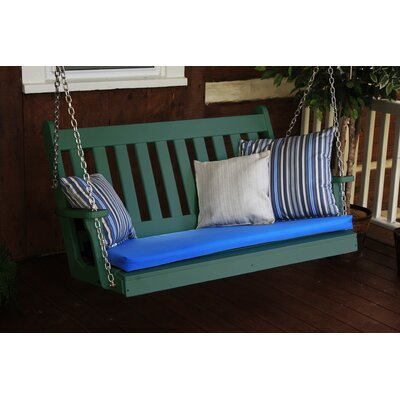 Traditional English Porch Swing Finish: Turf Green