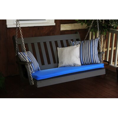 Traditional English Porch Swing Finish: Black